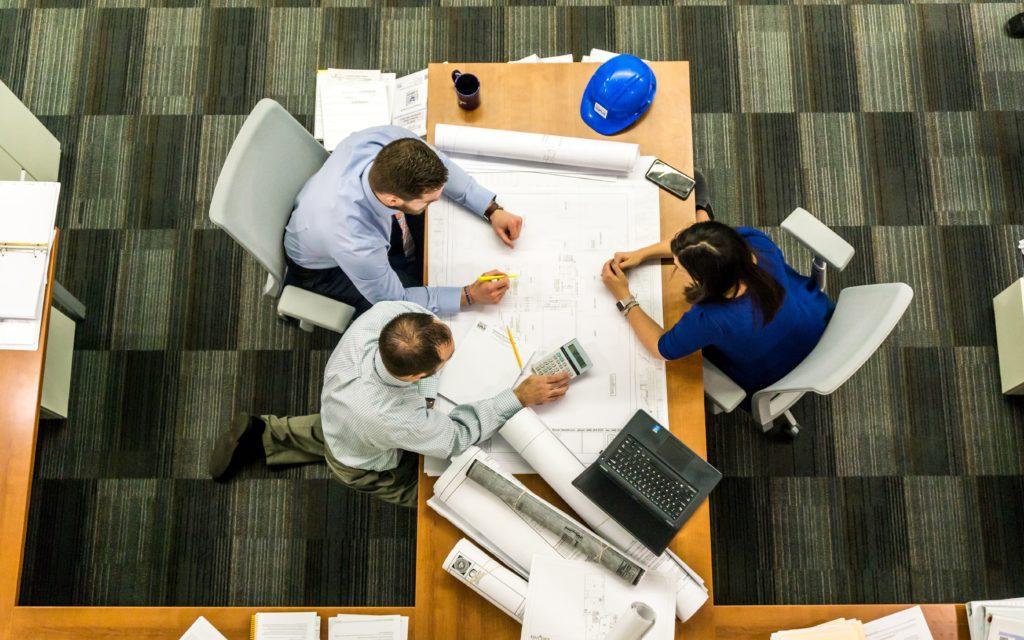 Professionals Negotiating at a Table