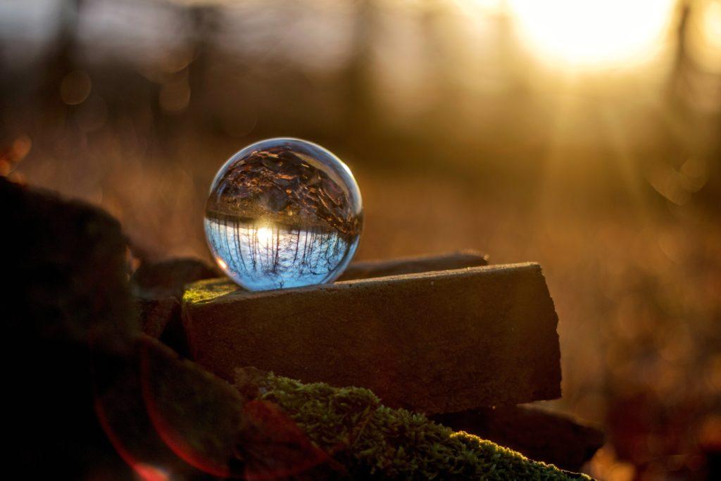 Upside Down, flipped crystal ball, world